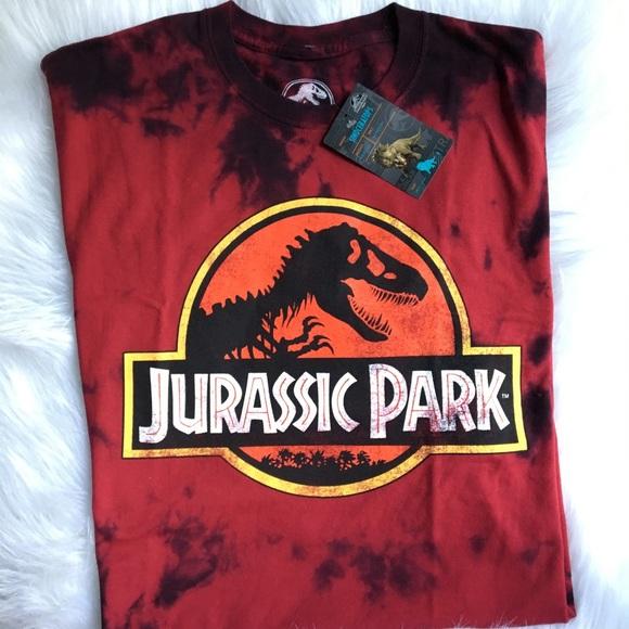 eee48fcb universal studios Shirts | Nwt Jurassic Park Xxl T Shirt Mens Red ...